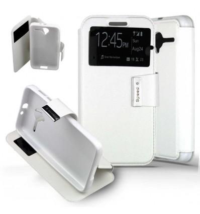 Etui Folio Alcatel One Touch Pixi 3 (4.5) - Blanc