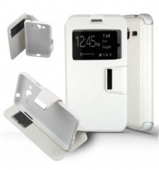 Etui Folio Samsung Galaxy J3 2016 - Blanc