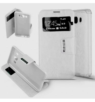 Etui Folio Samsung Galaxy J5 (2016) - Blanc