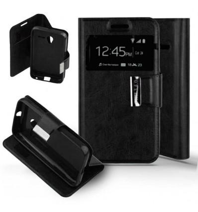 Etui Folio Alcatel One Touch Pixi 3 (4.0) - Noir