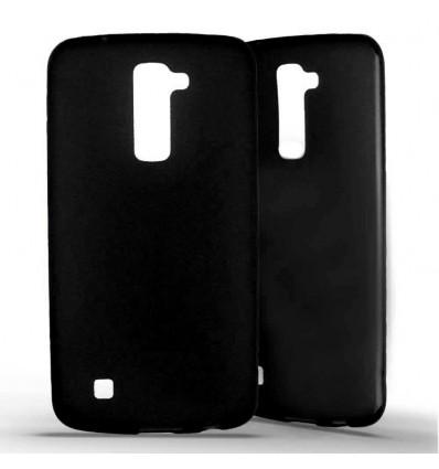 Coque silicone LG K10 - Noir Opaque