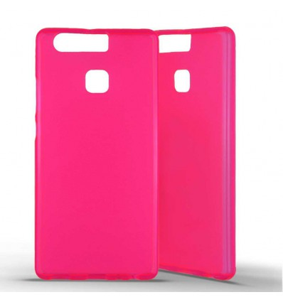 Coque silicone Huawei P9 - Rose