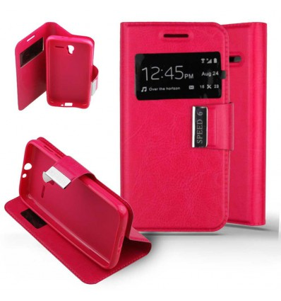 Etui Folio Alcatel One Touch Pixi 3 (4.5) - Rose