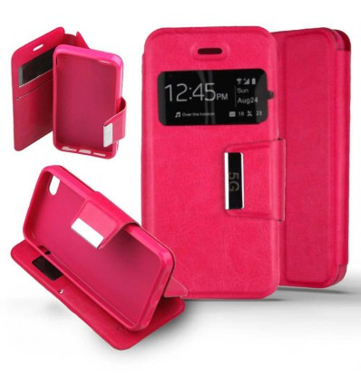 Etui Folio Apple iPhone 5 / 5S - Rose Fushia