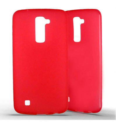 Coque silicone LG K10 - Rouge