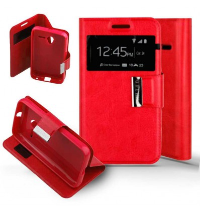 Etui Folio Alcatel One Touch Pixi 3 (4.0) - Rouge