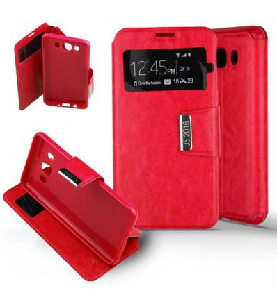 Etui Folio Samsung Galaxy J5 2016 - Rouge