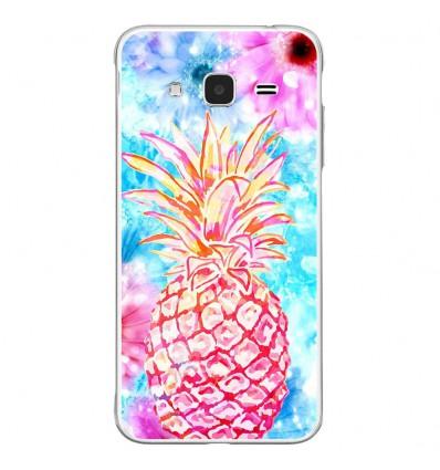 Coque en silicone Samsung Galaxy J3 2016 - Ananas