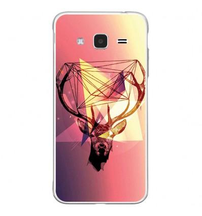 Coque en silicone Samsung Galaxy J3 2016 - Cerf Hipster