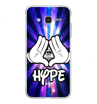 Coque en silicone Samsung Galaxy J3 2016 - Hype Illuminati