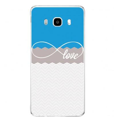 Coque en silicone Samsung Galaxy J3(2016) - Love bleu