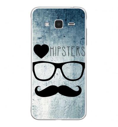 Coque en silicone Samsung Galaxy J3 2016 - I Love Hipster