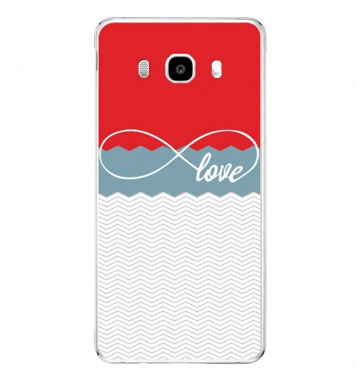 Coque en silicone Samsung Galaxy J3 2016 - Love Rouge