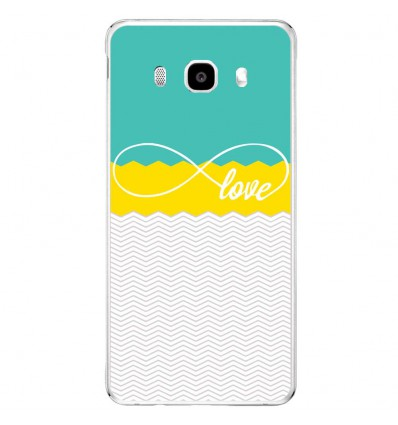 Coque en silicone Samsung Galaxy J3 2016 - Love Turquoise