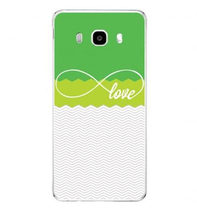 Coque en silicone Samsung Galaxy J3 2016 - Love Vert