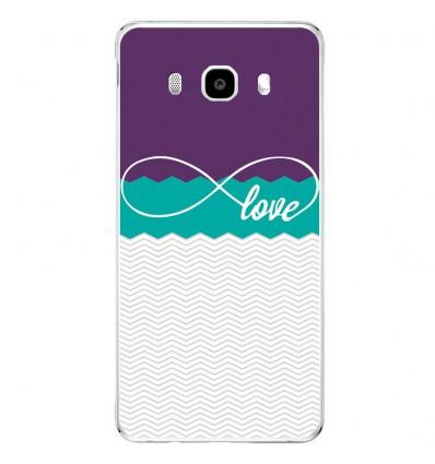 Coque en silicone Samsung Galaxy J3(2016) - Love violet