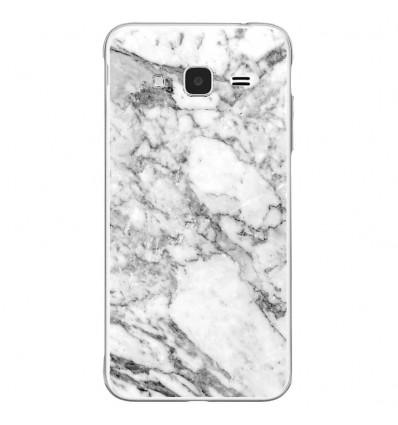 Coque en silicone Samsung Galaxy J3 2016 - Marbre Blanc
