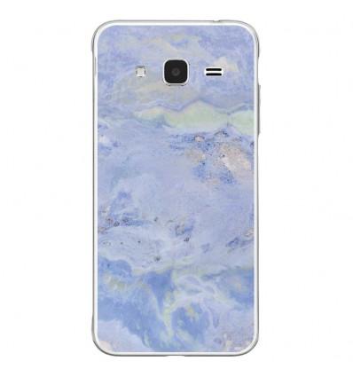 Coque en silicone Samsung Galaxy J3 2016 - Marbre Bleu
