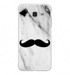 Coque en silicone Samsung Galaxy J3 2016 - Hipster Moustache