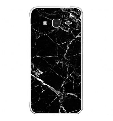 Coque en silicone Samsung Galaxy J3 2016 - Marbre Noir