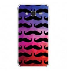 Coque en silicone Samsung Galaxy J3 2016 - Moustache