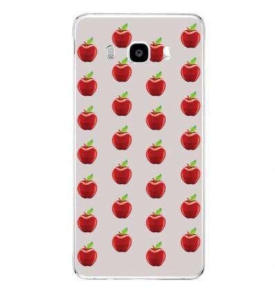 Coque en silicone Samsung Galaxy J3 2016 - Pommes Gris