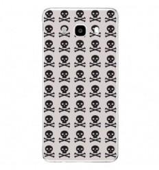 Coque en silicone Samsung Galaxy J3 2016 - Skull Noir