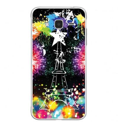 Coque en silicone Samsung Galaxy J3(2016) - Tour Eiffel Star