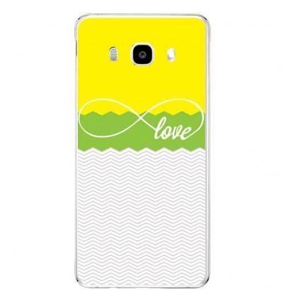 Coque en silicone Samsung Galaxy J5 2016 - Love Jaune