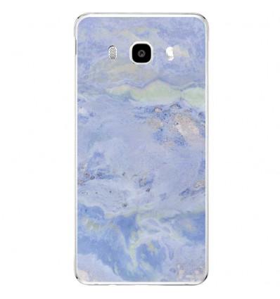 Coque en silicone Samsung Galaxy J5 2016 - Marbre Bleu