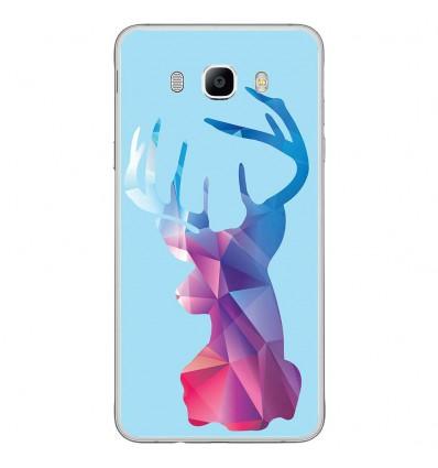 Coque en silicone Samsung Galaxy J7 2016 - Cerf Hipster Bleu