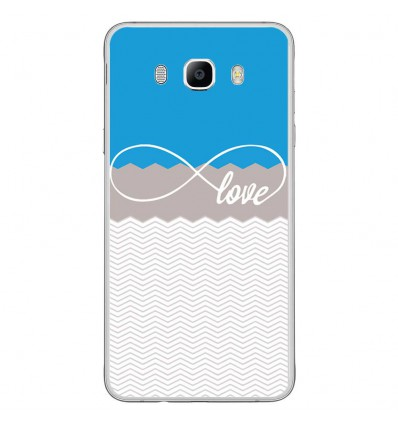 Coque en silicone Samsung Galaxy J7 2016 - Love Bleu