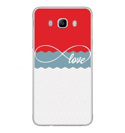 Coque en silicone Samsung Galaxy J7 2016 - Love Rouge