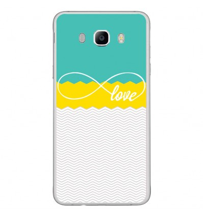 Coque en silicone Samsung Galaxy J7 2016 - Love Turquoise