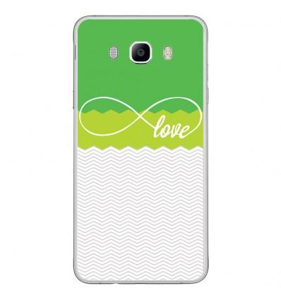 Coque en silicone Samsung Galaxy J7 2016 - Love Vert