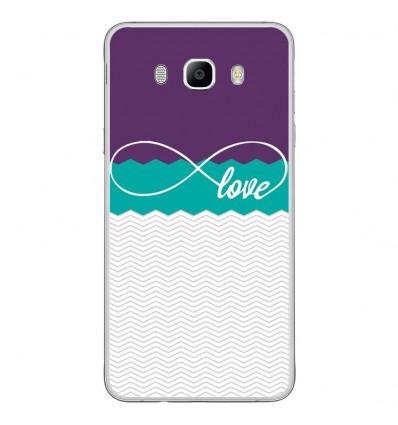 Coque en silicone Samsung Galaxy J7 2016 - Love Violet