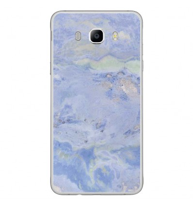 Coque en silicone Samsung Galaxy J7 2016 - Marbre Bleu