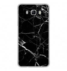 Coque en silicone Samsung Galaxy J7 2016 - Marbre Noir