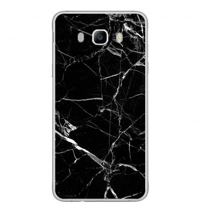 Coque en silicone Samsung Galaxy J7(2016) - Marbre noir