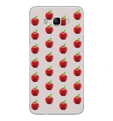 Coque en silicone Samsung Galaxy J7 2016 - Pommes Gris