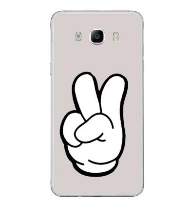Coque en silicone Samsung Galaxy J7 2016 - Swag Hand Blanc