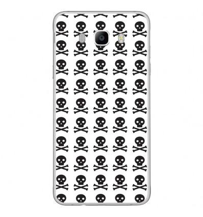 Coque en silicone Samsung Galaxy J7 2016 - Skull blanc