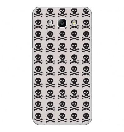 Coque en silicone Samsung Galaxy J7 2016 - Skull Noir
