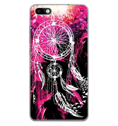 Coque en silicone Wiko Lenny 3 - Dreamcatcher Rose