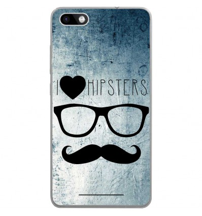 Coque en silicone Wiko Lenny 3 - I Love Hipster