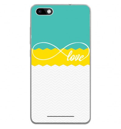 Coque en silicone Wiko Lenny 3 - Love Turquoise