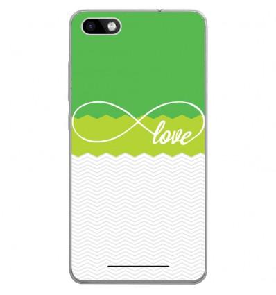Coque en silicone Wiko Lenny 3 - Love Vert