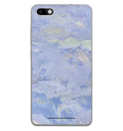 Coque en silicone Wiko Lenny 3 - Marbre Bleu