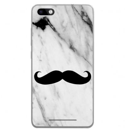 Coque en silicone Wiko Lenny 3 - Hipster Moustache