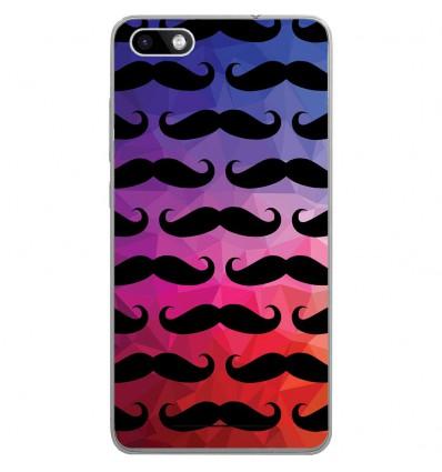 Coque en silicone Wiko Lenny 3 - Moustache